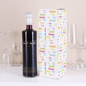 Wein mit personalisierter Box