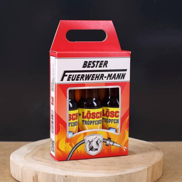 Ausgefallenspezielles - Lösch Tröpfchen Likörbox für Feuerwehrmänner - Onlineshop Geschenke online.de