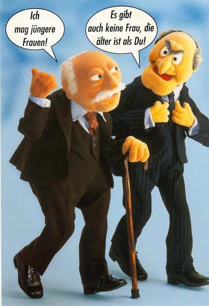 postkarte als gru karte zum geburtstag motiv muppet show 2. Black Bedroom Furniture Sets. Home Design Ideas