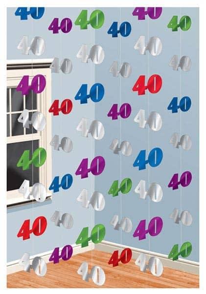 Hängegirlanden zum 40. Geburtstag