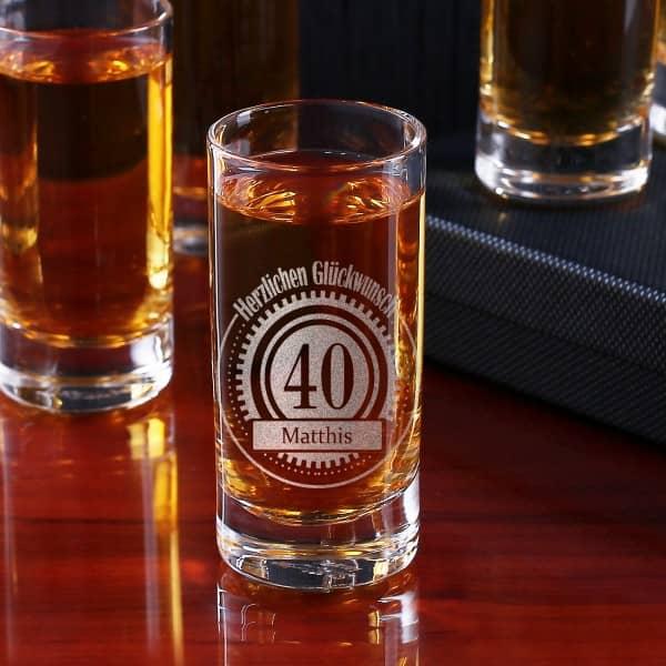 Personalisiertes Schnapsglas zum Geburtstag