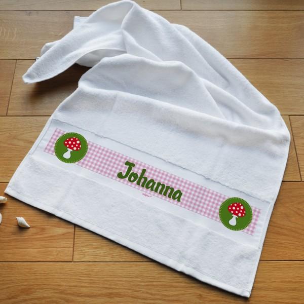 Individuellbadzubehör - Glückspilz Handtuch mit Wunschname personalisiert - Onlineshop Geschenke online.de