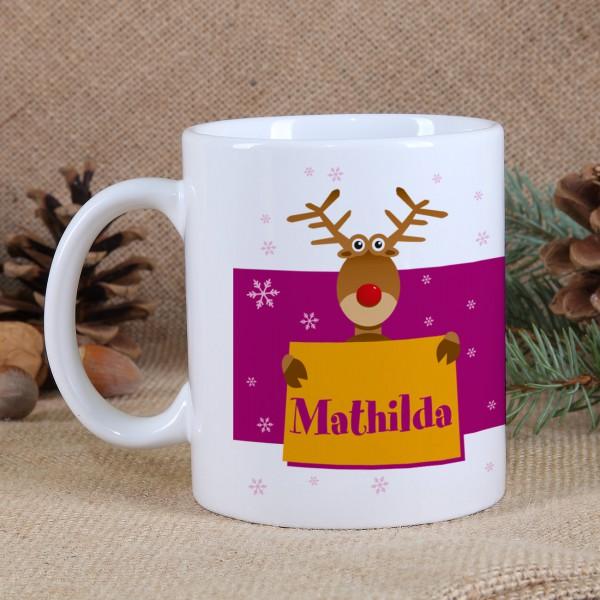 Tasse Weihnachtselch für Mädchen