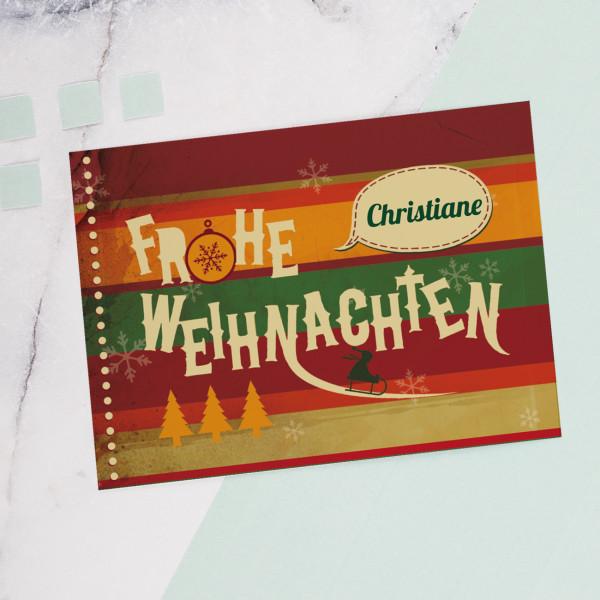 Weihnachtskarte mit Ihren Wunschnamen