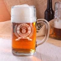 Maßkrug mit Gravur 1L für Bierkenner