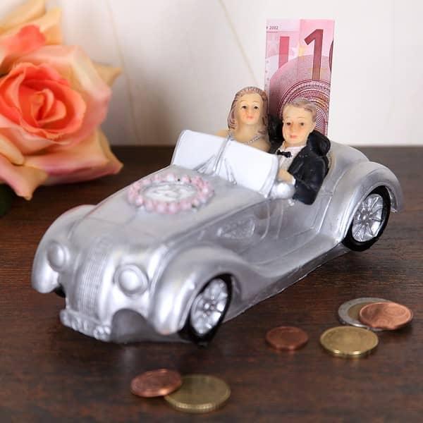 Spardose Silber-Brautpaar