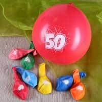8 Luftballons zum 50. Geburtstag