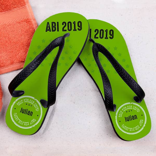 Abi 2020 Sandalen Mit Name Reif Für Die Insel