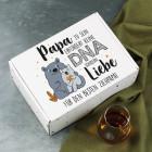Papa zu sein erfordert keine DNA sondern Liebe - süße Geschenkbox für Stiefpapas