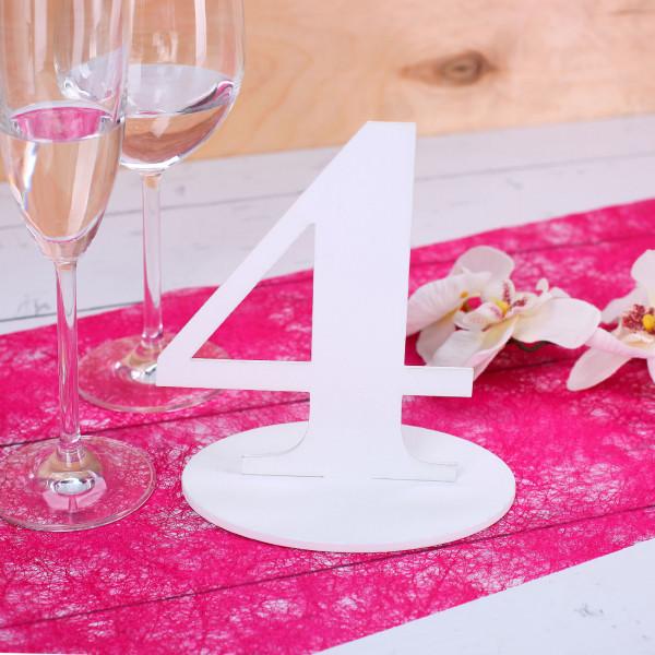 Zahl 4 für Ihre Tischdekoration