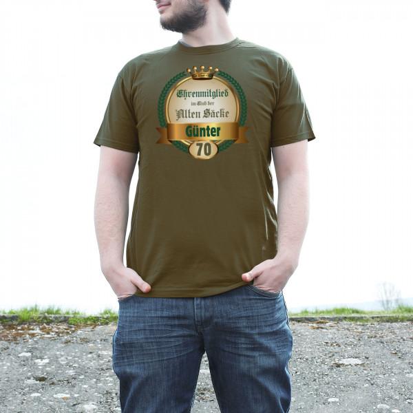 Club der alten Säcke T-Shirt für Männer mit Name und Alter