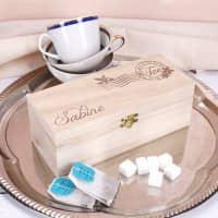 Gravierte Teebox mit Name - Zeit für dich