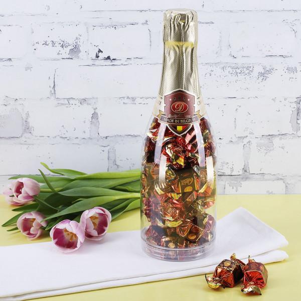 Gefüllte Pralinen In Champagner Pralinenflasche