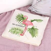 Flamingo Kirschkernkissen mit Wunschtext