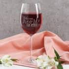 Geschenk für die beste Freundin - Weinglas mit Ihren Wunschnamen graviert