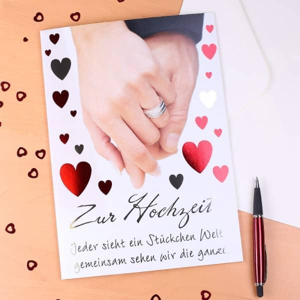 A4 Grußkarte zur Hochzeit