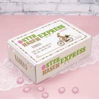 Geschenkverpackung vom Osterhasen-Express mit Ihrem Namen und Wunschtext