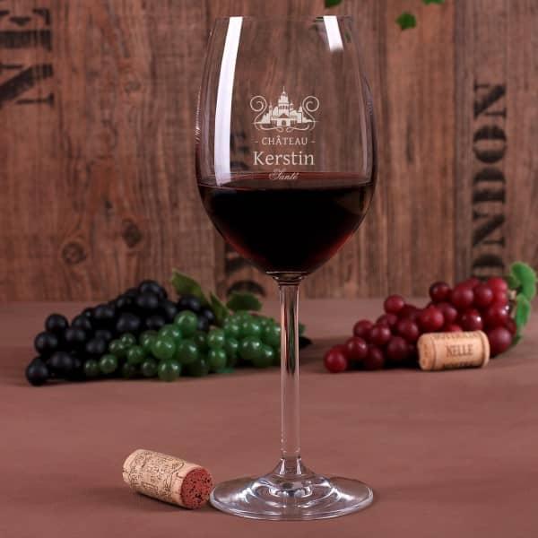Weinglas Chateau mit Gravur