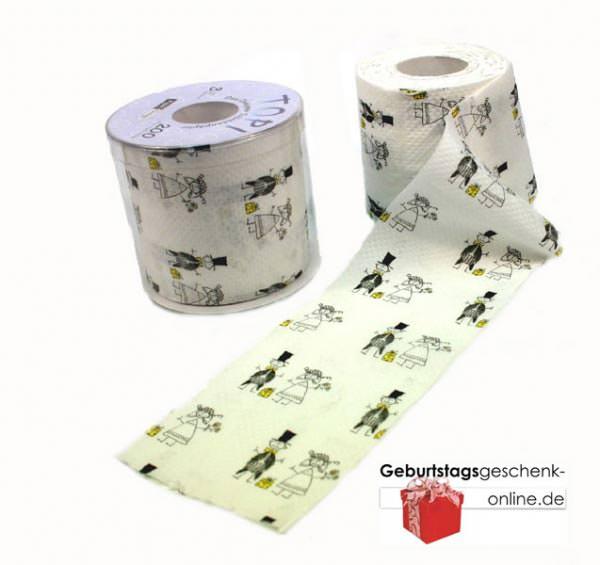 klopapier toilettenpapier just married geschenke. Black Bedroom Furniture Sets. Home Design Ideas
