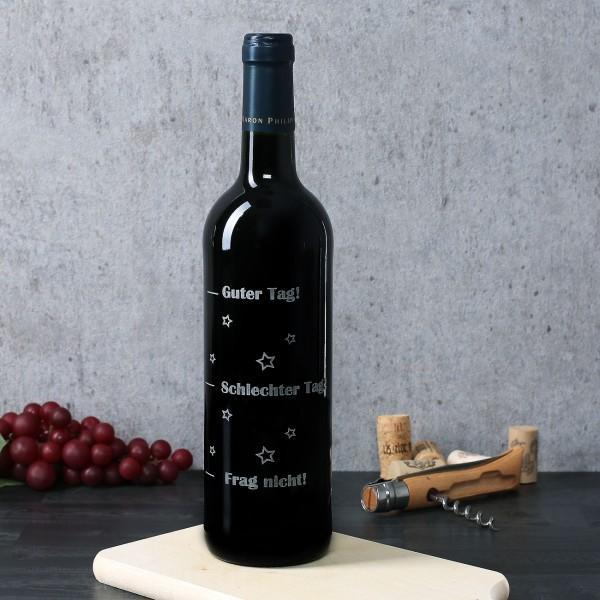Weinflasche mit Stimmungsbarometer