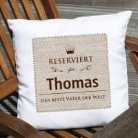 Reserviert-Kissen mit Name und Wunschtext