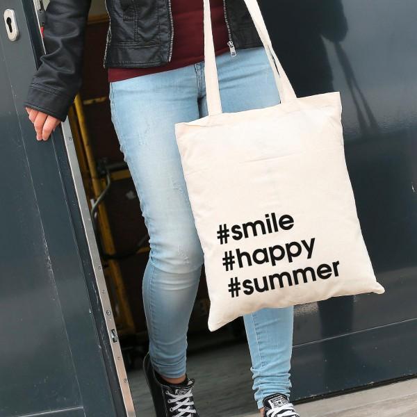 Shopping Tasche mit Hashtags