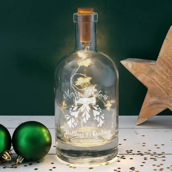 Beleuchtete Karaffe als romantische Geschenkidee zu Weihnachten