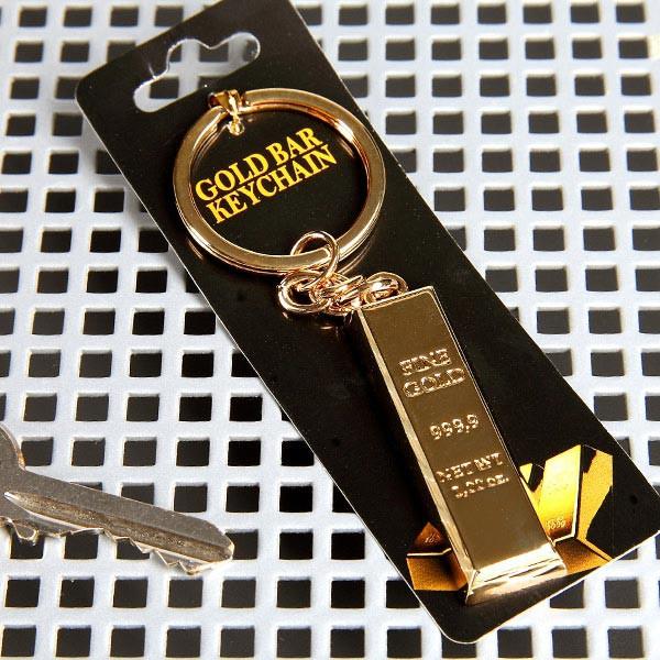 Schlüsselanhänger in gold