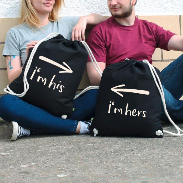 Rucksack-Set schwarz für Paare