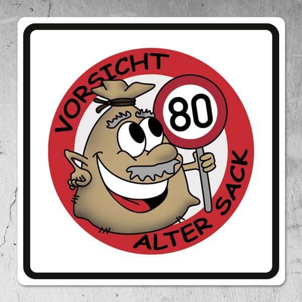Schild zum 80 geburtstag for Dekoration 80 geburtstag