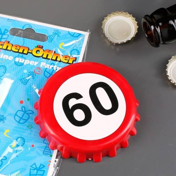 Flaschenöffner Verkehrszeichen zum 60. Geburtstag