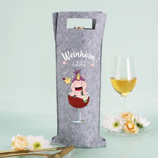 Weinhorn Flaschenbeutel mit Knuddelhorn