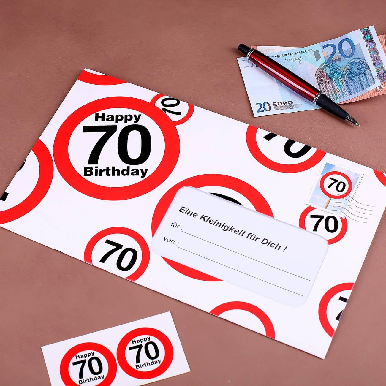 Xxl geldgeschenk zum 70 geburtstag geschenke for Geschenke zum 70 geburtstag vater