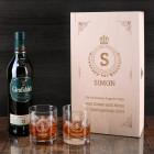 Glenfiddich Whisky Geschenkset mit Monogramm, Name und Wunschtext graviert