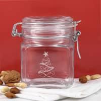 Einmachglas zu Weihnachten mit Ihrem Wunschtext