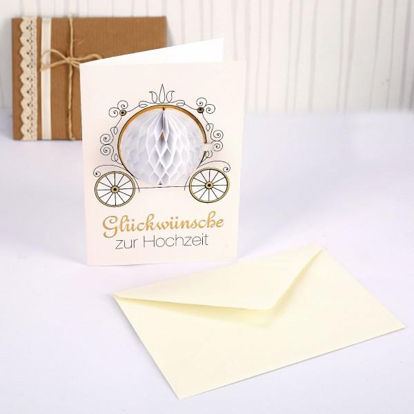Pom Pom Karte - Glückwünsche zur Hochzeit