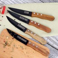 Vier gravierte Steakmesser mit Ihren Wunschtexten