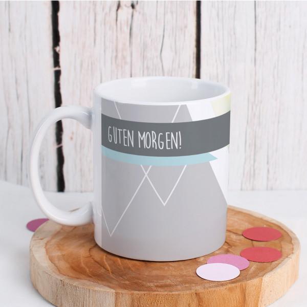 Moderne Tasse mit Wunschfoto Wunschtext