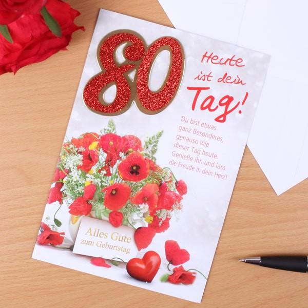 Karte zum 80. Geburtstag