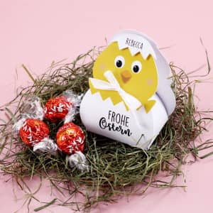 Küken Geschenkverpackung zu Ostern mit Name