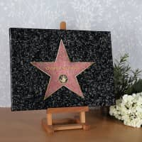 Walk of Fame Leinwand 30 x 40 cm - mit Wunschnamen