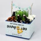 Lockdown-Bier DIY Set für Bierkästen mit Hamster, Klopapier und Wunschtext