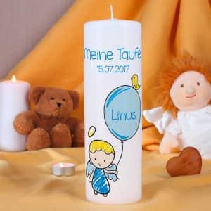Personalisierte Taufkerze für Jungen