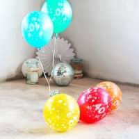 5 Luftballons zum 40. Geburtstag