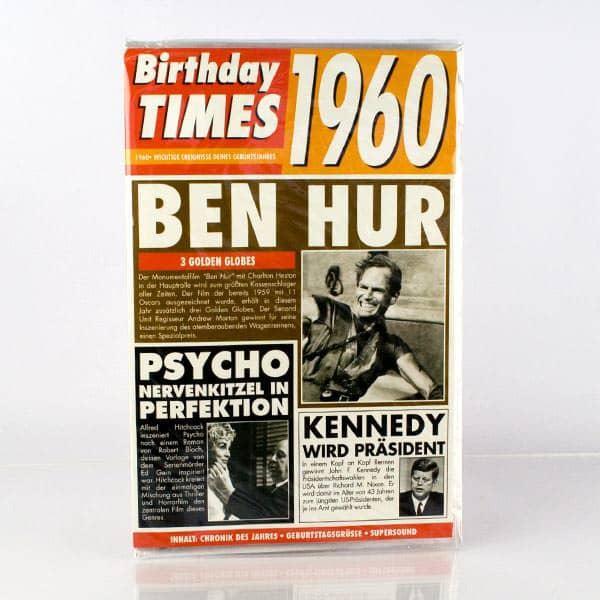 Birthday Times Karte 1960