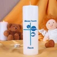 Kerze zur Taufe für Jungen