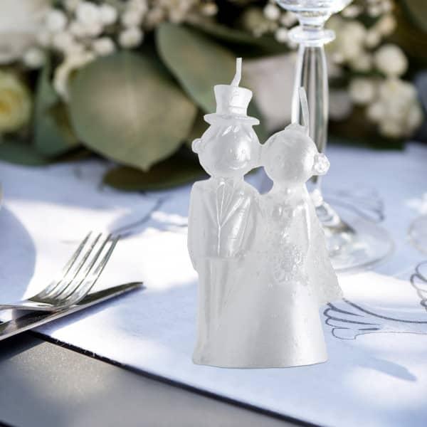 Weiße Kerze Brautpaar zur Hochzeit