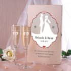 Romantisches Sekt Geschenkset zur Hochzeit