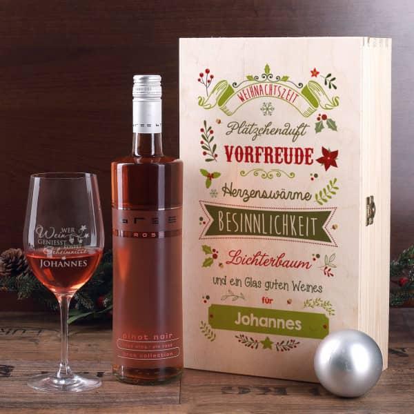 Weihnachtliches Wein-Geschenkset
