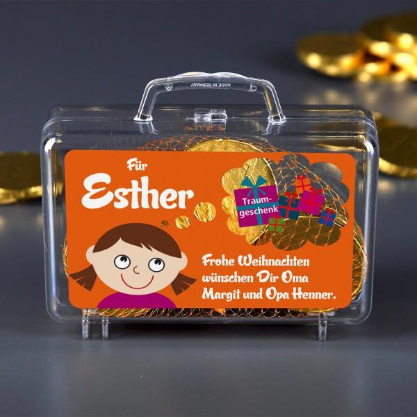 Kleiner Geldkoffer Traumgeschenk für Mädchen